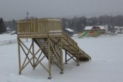 Terrain de jeux en hiver
