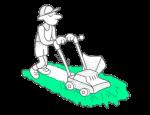 Travaux légers (peinture, tonte de pelouse, etc.) et gardiennage